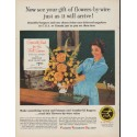 "1960 Florists' Telegraph Delivery Ad ""see your gift"""