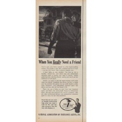 "1960 National Association of Insurance Agents Ad ""a Friend"""