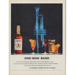 "1960 Corby's Whiskey Ad ""One-Man Band"""