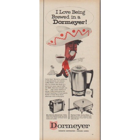 "1960 Dormeyer Ad ""Brewed in a Dormeyer"""