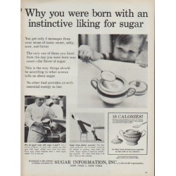 "1960 Sugar Information, Inc. Ad ""instinctive liking for sugar"""