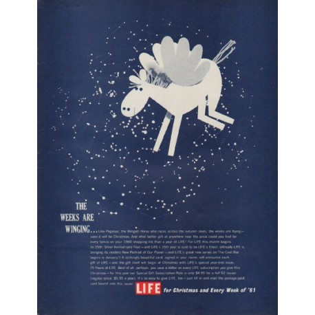 "1960 LIFE Magazine Ad ""The Weeks Are Winging"""