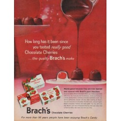 "1960 Brach's Candy Ad ""How long has it been"""