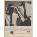 "1960 Du Pont Dacron Ad ""improves the cotton shirt"""