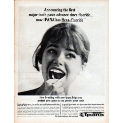 "1961 Ipana Tooth Paste Ad ""first major tooth paste advance"""