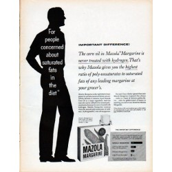 "1961 Mazola Margarine Ad ""Important Difference"""