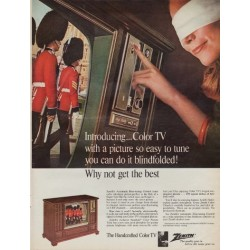 """1967 Zenith Color TV Ad """"Why Not Get The Best"""""""