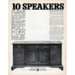 "1961 General Electric Ad ""10 speakers"""