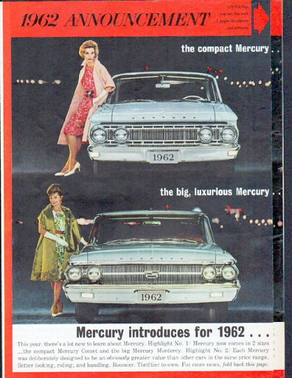 1962 ford mercury vintage ad quot 1962 announcement quot