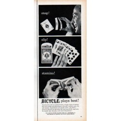 "1961 Bicycle Playing Cards Ad ""snap!"""