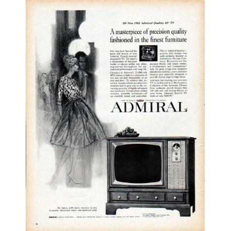"1962 Admiral Television Ad ""masterpiece of precision"""