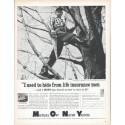 "1961 Mutual Of New York Ad ""I used to hide"""