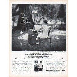 "1961 Lowrey Organ Ad ""The music"""