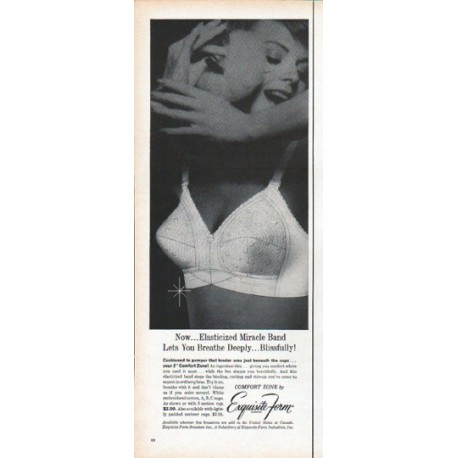 "1961 Exquisite Form Ad ""Lets You Breathe"""