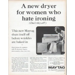 "1961 Maytag Ad ""A new dryer"""