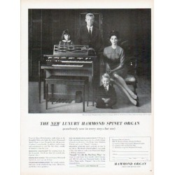 "1961 Hammond Organ Ad ""wondrously new in every way"""