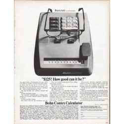 "1961 Bohn Contex Calculator Ad ""Brainchild"""