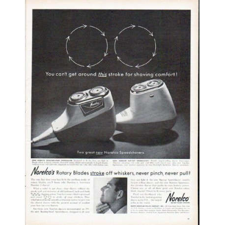 "1961 Norelco Ad ""this stroke"""
