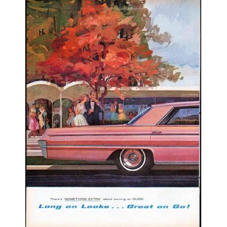 "1962 Oldsmobile Ad ""Long on Looks"""