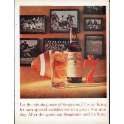 "1961 Seagram's Ad ""winning taste"""