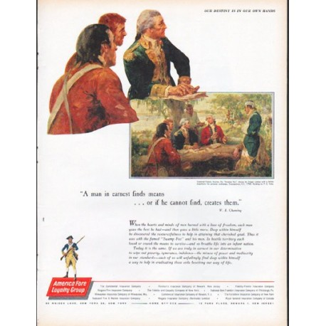"1961 America Fore Loyalty Group Ad ""Our Destiny"""