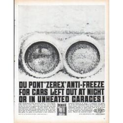 """1961 Du Pont Ad """"Zerex"""""""