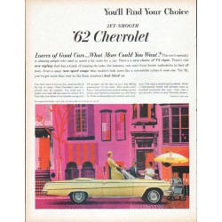 "1962 Chevrolet Ad ""You'll Find Your Choice"""
