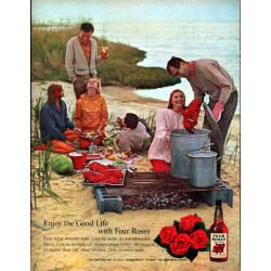 "1961 Four Roses Whiskey Ad ""Enjoy the Good Life"""