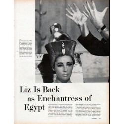 "1961 Elizabeth Taylor Article ""Enchantress of Egypt"""