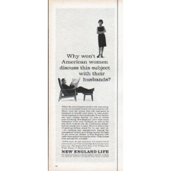 "1961 New England Life Ad ""American women"""