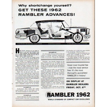 "1962 Rambler Ad ""Why shortchange yourself?"""