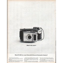 "1961 Polaroid Ad ""What's the catch?"""