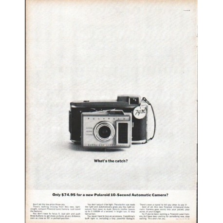 """1961 Polaroid Ad """"What's the catch?"""""""