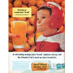 "1961 Florida Citrus Commission Ad ""orange juice ""break"""""