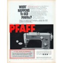 "1961 Pfaff Sewing Machine Ad ""What happens to old Pfaffs?"""