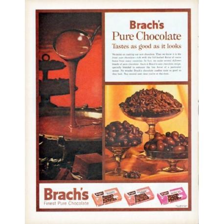 "1961 Brach's Candy Ad ""Pure Chocolate"""
