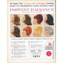 """1961 COTY Hair Color Ad """"Instant Radiance"""""""