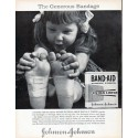 "1961 Johnson & Johnson Ad ""The Generous Bandage"""