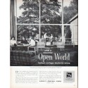 """1961 Libbey * Owens * Ford Glass Ad """"Open World"""""""