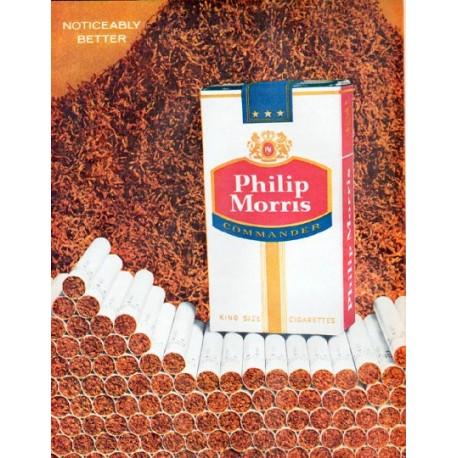 "1961 Philip Morris Cigarettes Ad ""Tobacco tastes richer"""