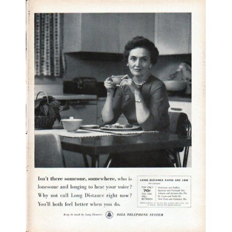 """1961 Bell Telephone System Ad """"Isn't there someone"""""""