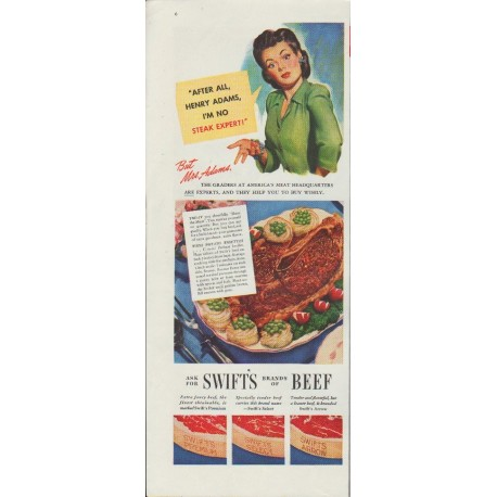 "1942 Swift's Beef Ad ""Henry Adams"""