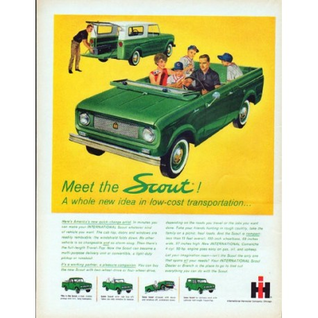 """1961 International Harvester Ad """"Meet the Scout"""""""