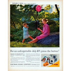 "1961 Kodak Ad ""unforgettable July 4th"""