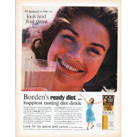 "1961 Borden's Ad ""look and feel great"""