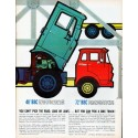 "1961 GMC Trucks Ad ""road, load or laws"""