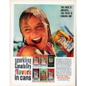 """1961 Canada Dry Ad """"The Face Is America"""""""