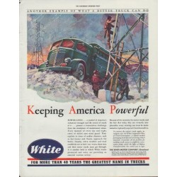 "1942 White Trucks Ad ""Keeping America Powerful"""