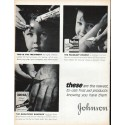 """1961 Johnson & Johnson Ad """"first aid products"""""""