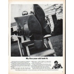 "1961 Polaroid Ad ""My five-year-old took it"""